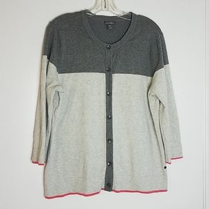 Eddie Bauer XL Cardigan 3/4 sleeves Women's